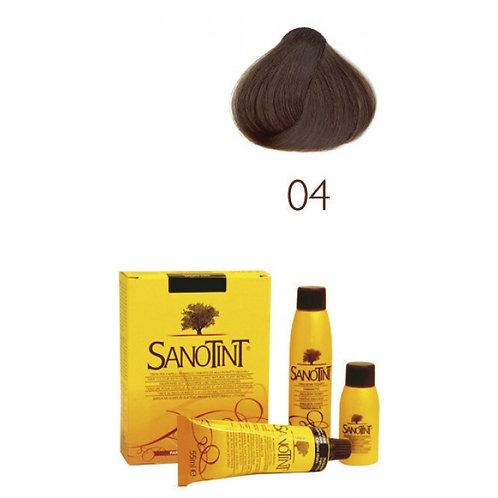 Farba do Włosów na Naturalnej Bazie 04 NATURALNY ŚREDNI BRĄZ SANOTINT