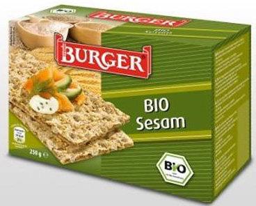 Pieczywo Chrupkie Żytnie Razowe z Sezamem BIO 250g Burger