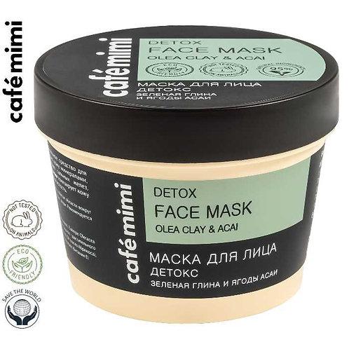 Café mimi Maska do twarzy Detox - Zielona glinka i jagody acai, 110 ml