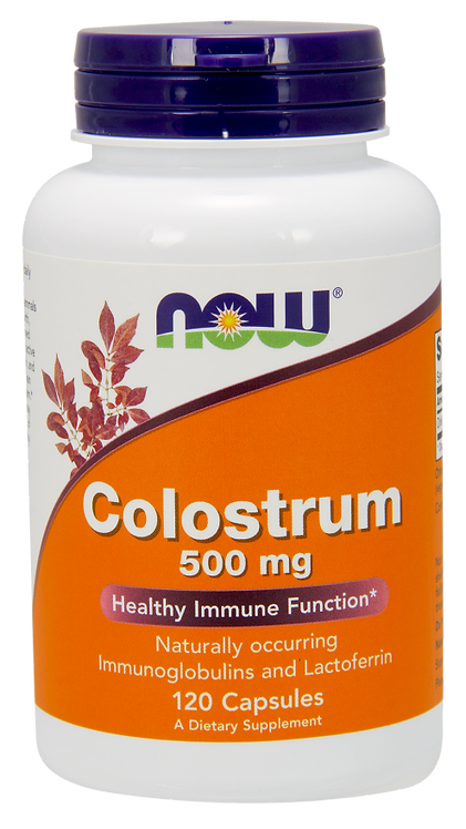 Colostrum 500mg 120kaps NOW FOODS