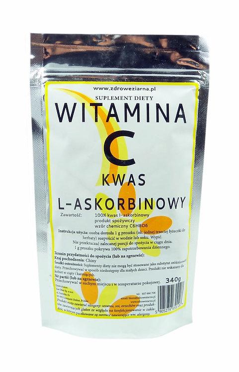 Witamina C Proszek - kwas L-Askorbinowy 340g K2