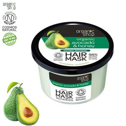 Regenerująca maska do włosów Organic Avocado & Honey 250ml Organic Shop
