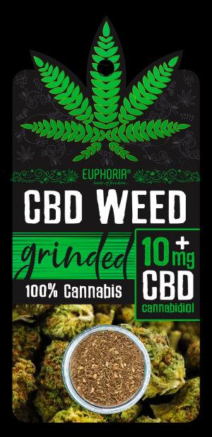 Kwiaty CBD Weed 10 mg Grinded ok. 1g. - Euphoria