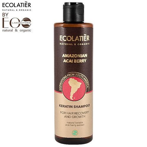 Keratynowy szampon do włosów Regeneracja i wzrost ACAI BERRY 250ml ECOLATIER
