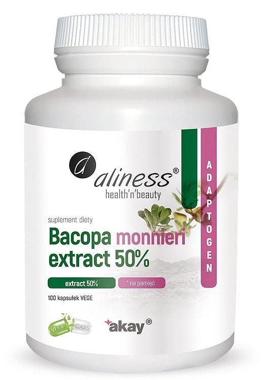 Bacopa Monnieri Extract 50%, 500mg 100vege kaps. Aliness