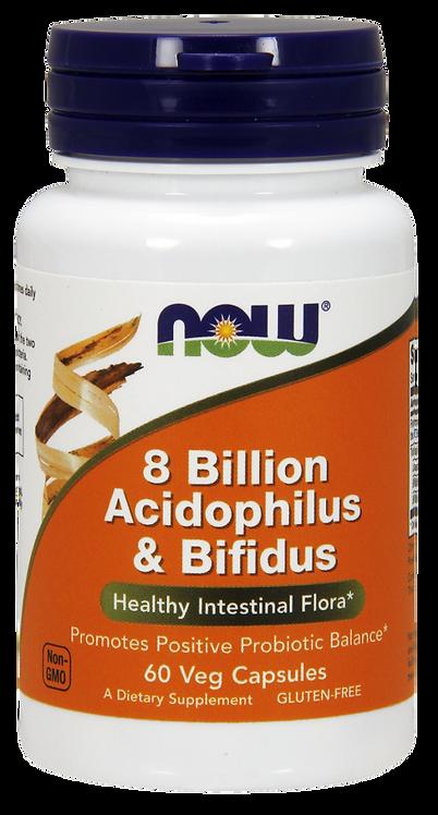 8 Billion Acidophilus & Bifidus 60kaps NOW FOODS