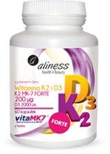 Witamina K2 MK7 i D3 Forte 60kaps. Aliness