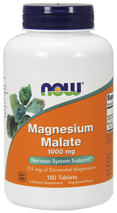 Magnesium Malate 1000mg, 180tabl. NOW FOODS