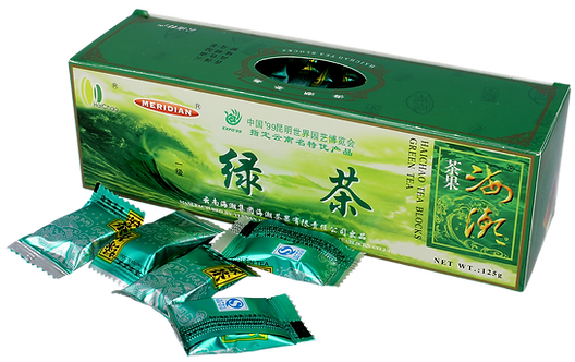Herbata Zielona  Prasowana Yunnan w Kostkach 125g Meridian