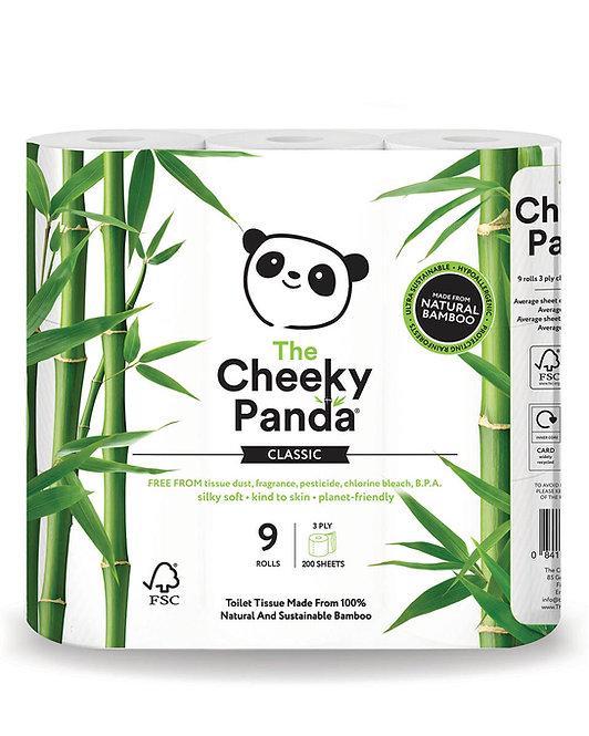 Papier Toaletowy z Bambusa Trzywarstwowy 9 rolek Cheeky Panda