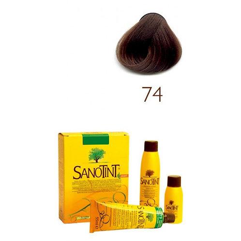 Farba do Włosów na Naturalnej Bazie 74 JASNY BRĄZ SANOTINT SENSITIVE
