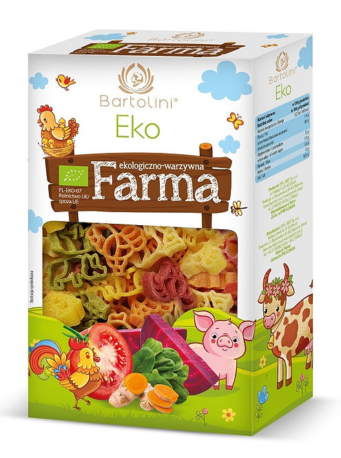 Makaron Semolinowy z Suszonymi Warzywami - Dla Dzieci Farma BIO 250g Bartolini