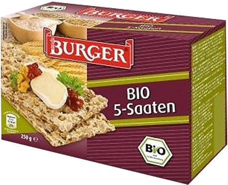 Pieczywo Chrupkie Żytnie Razowe 5 Ziaren BIO 250g Burger