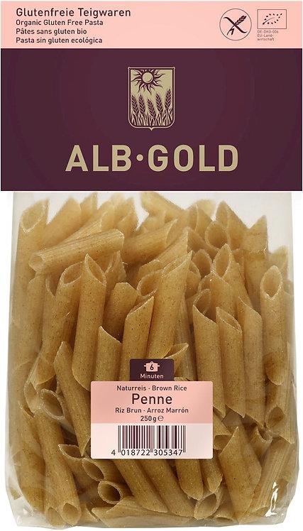 Makaron Ryżowy Razowy Penne Bezglutenowy BIO 250g Alb Gold