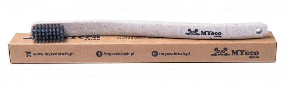 Szczoteczki MyEcoBrush Natural WAVE Beżowa miękka