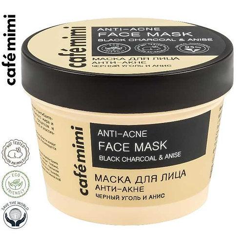 Cafe mimi Maska do twarzy ANTI - ACNE Czarny węgiel i anyż, 110 ml