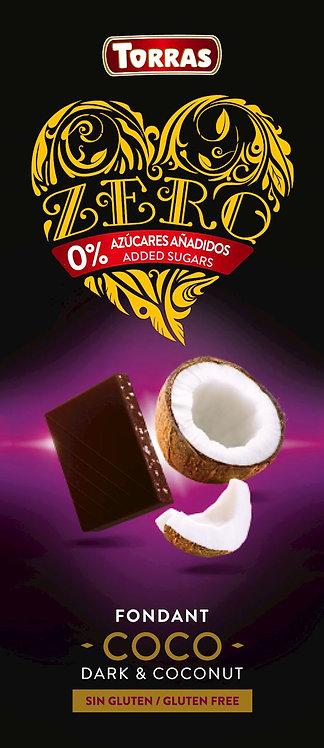 Czekolada Gorzka z Kokosem bez Dodatku Cukru ZERO 125g Torras