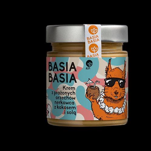 BasiaBasia Krem z Prażonych Orzechów Nerkowca z Kokosem i Solą 200g Alpi