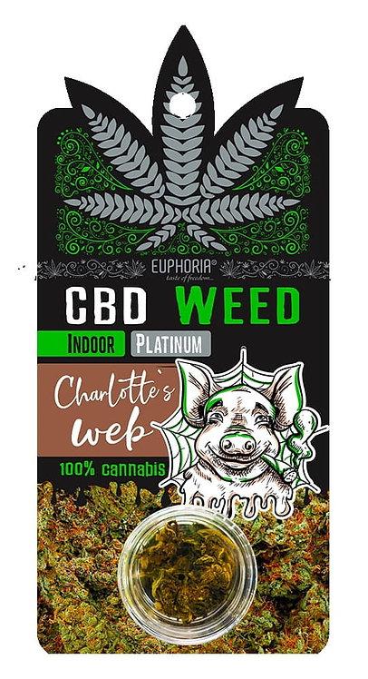 Kwiaty CBD Weed Platinium Charlotte's Web ok. 1g. - Euphoria
