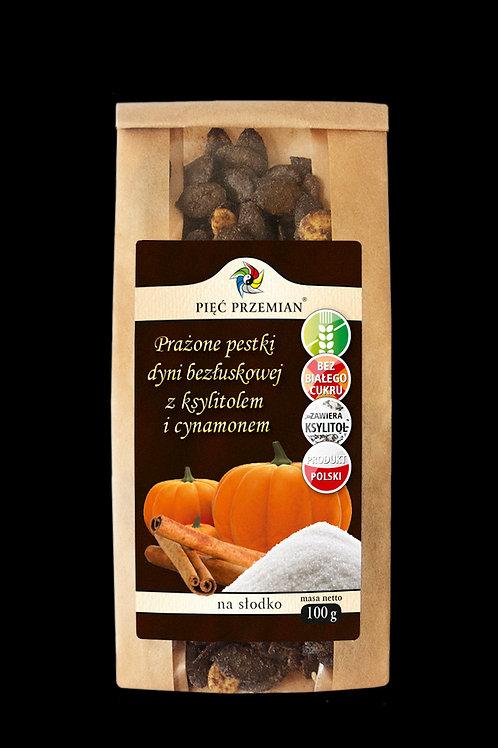 Prażone Pestki Dyni z Ksylitolem i Cynamonem 100g Pięć Przemian