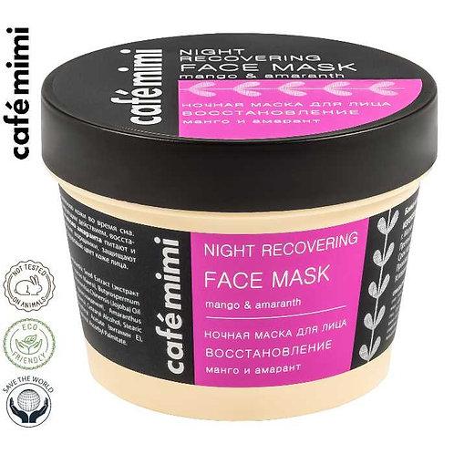 Café mimi Nocna maska do twarzy Regeneracja - Mango i szarłat, 110 ml