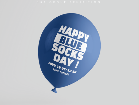 [9AND]9AND BUNKER : HAPPY BLUE SOCKS DAY