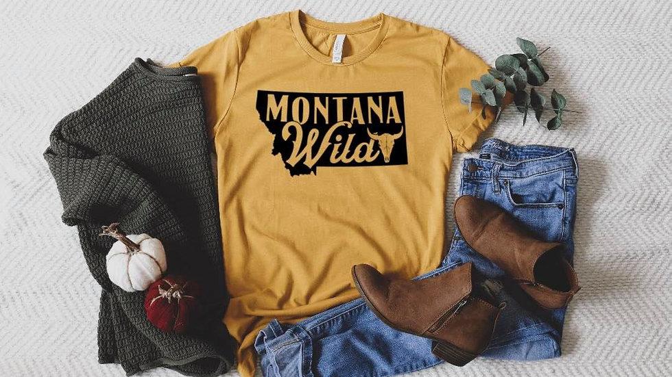 Bella & Canvas Mustard MT Wild shirt