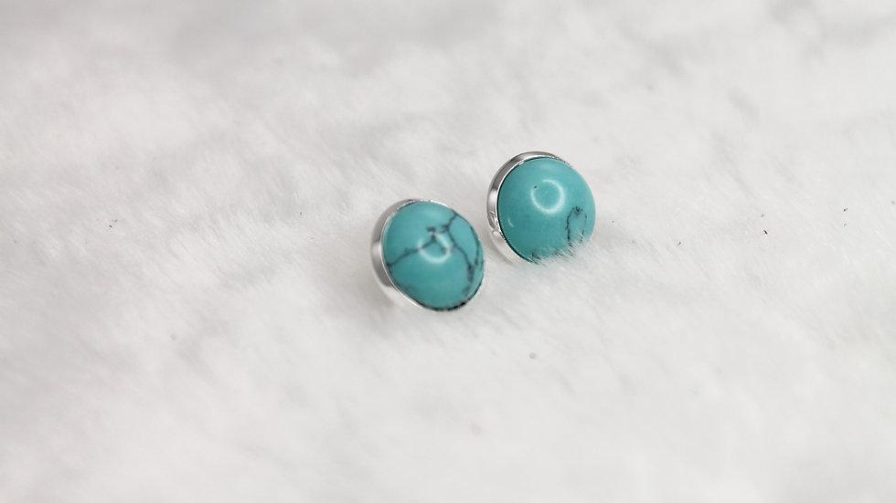 Silver & Turquoise stud earrings