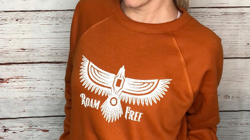 Roam Free crewneck sweatshirt