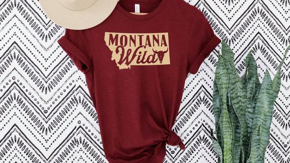 Bella & Canvas Red MT Wild shirt