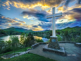 SpringSunsetCross-Lake Junaluska.jpg