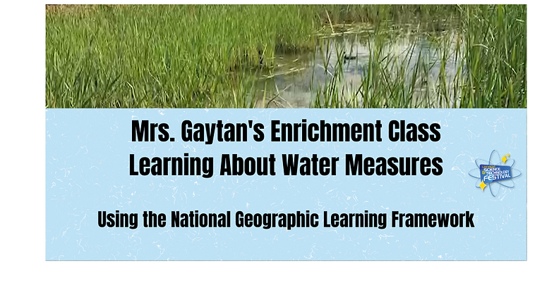 Learning About Water Measures