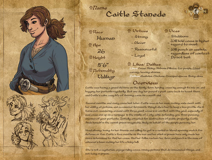 Character Sheets - Caitle Stanede