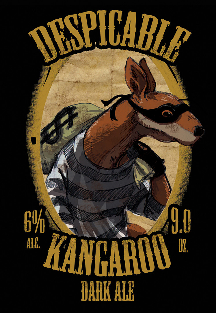 Despicable Kangaroo Label