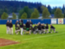 Lynden Baseball team meets after losing to Burlington