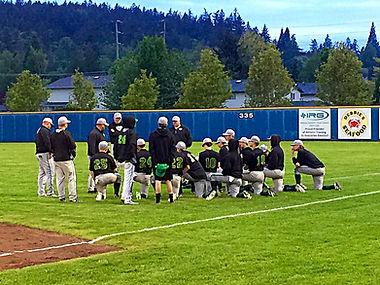 Lynden Baseball team meets after losing to Burlington