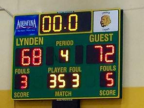 Lyden High School scoreboard - Doug Lange Bellingham
