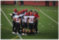 Mount Baker football huddle