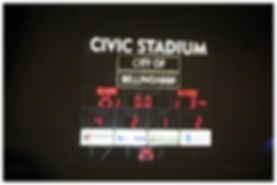 Civic Stadium scoreboard football