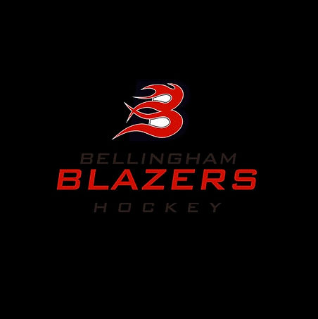 Bellingham Blazers logo black