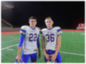 Ferndale QB Sequoyah Julius (22) and DB Jaden Brown (36). PHOTO: Tyler Anderson from WhatcomPreps.com