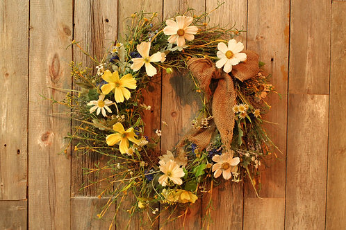 149 - Spring Daisy Wreath