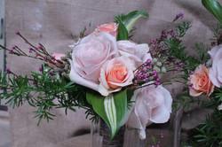 sand rose bouquet wedding