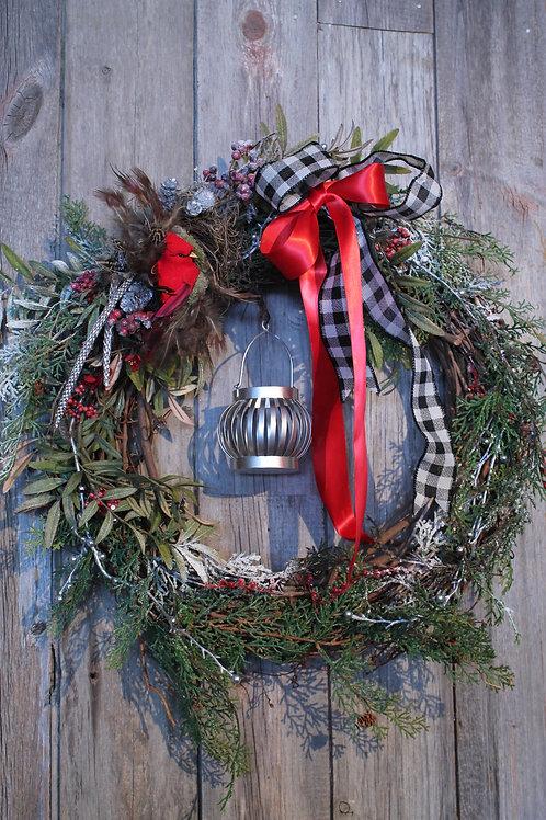 148-Winter Votive Wreath