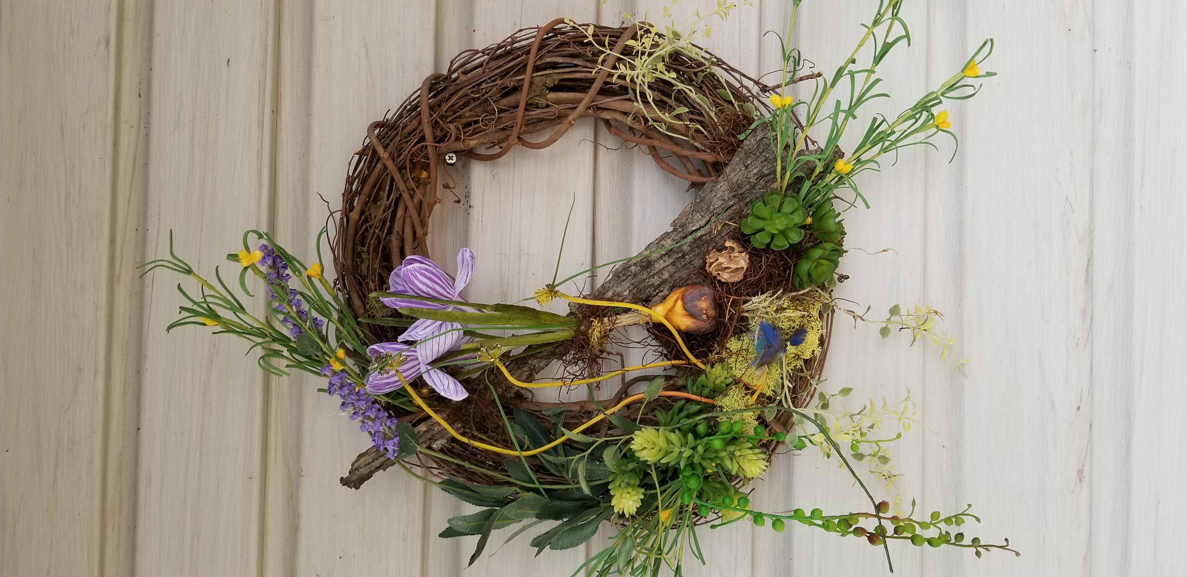 spring bulb 14 wreath