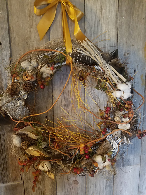 157 - Fall or Winter Natural Wreath