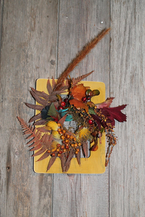 138 - Yellow Ochre Frame with Fall Accents