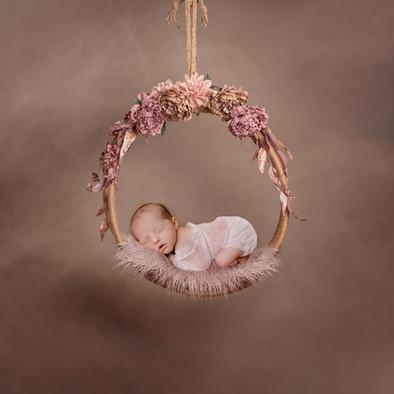 Pink & Purple Flower Swing- Brooke Mende