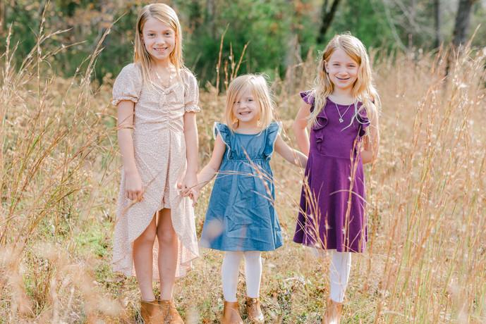 3 girls in golden field