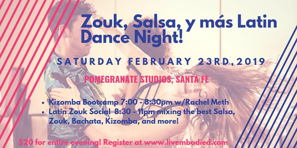 Zouk, Salsa, y más Latin Dance Night Santa Fe!